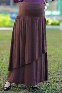 Breezy Maternity Long Skirt