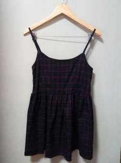 Checkered spagetti strap dress