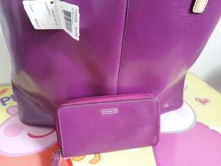 Repriced! Authentic and original Coach bag with free wallet from US