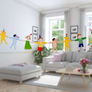 🌈 kids children animals banner bunting