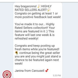 6th💕 Thank You Carousell💝