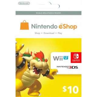 Nintendo eShop Reload Digital Code USD