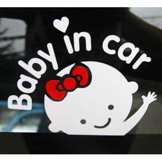 Baby In Car New Decal Vinyl Sticker