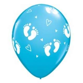 Baby - 11inch baby foot prints latex (blue/pink)