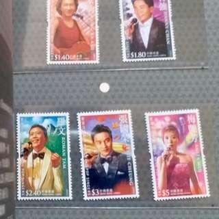 香港流行歌星郵票
