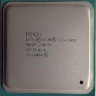 (二手)90%NEW Intel® Xeon® Processor E5-2670 v2 LGA2011 CPU