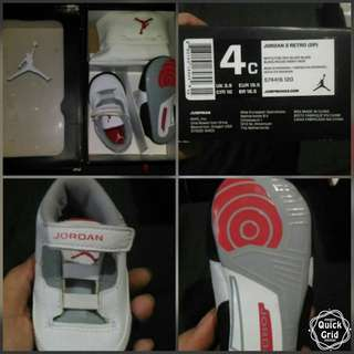 JORDAN 3 RETRO (GP) BABY SHOES