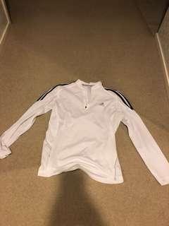 Adidas Long Sleeve White Shirt