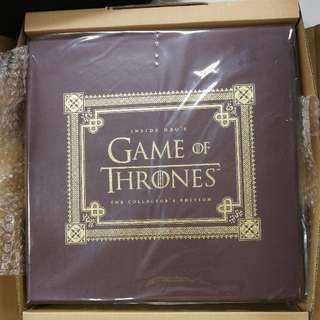 Inside  HBO game of thrones collector's edition book