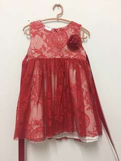 Dress Lace Red 2Y