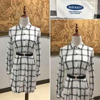 Old Navy Polo Shirt Plaid Dress