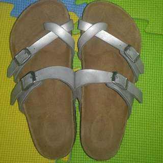 Authentic Birkenstock mayari silver