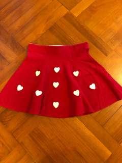 8-10Y H&M 紅色心心裙 (95% new)