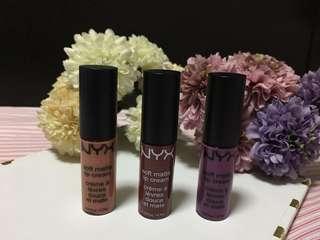 Bundle #3 Nyx Matte Lip Cream (mini)