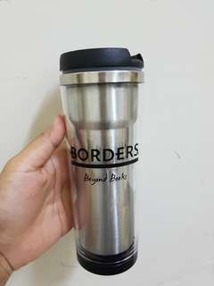 Borders Vacuum Flask / Tumbler