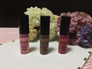 Bundle #4 Nyx Matte Lip Cream (mini)
