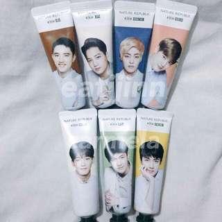 Nature Republic EXO Hand creams