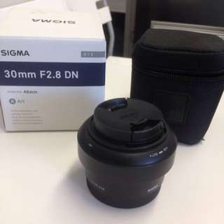 Sigma 30mm f2.8 DN Art Series lens