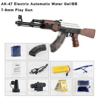 [SUPER PROMO] AK47 Electric Automatic Water Gel/BB 7-8mm Play Gun (Age 15+)