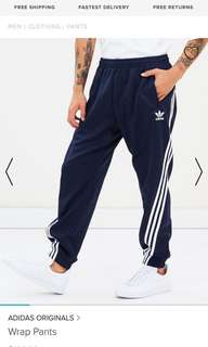 Adidas navy wrap pants