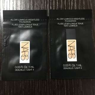 2包 NARS 粉底 All Day Luminous Weightless Foundation