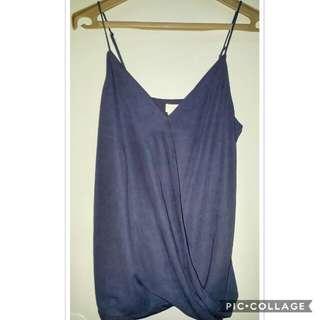 H & M spaghetti strap Vneck blouse