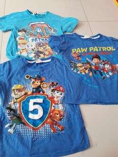 Paw patrol t-shirts