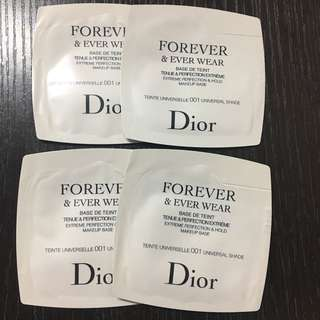 4包 Dior Makeup Base Forever & Ever Wear