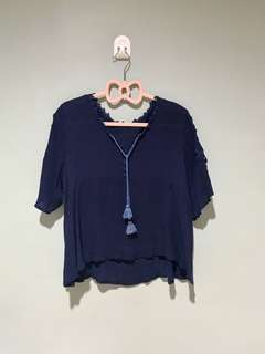 Blue loose top