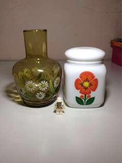 Vintage Vase Ceramic Container Flower