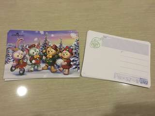 香港迪士尼樂園 duffy postcard 明信片