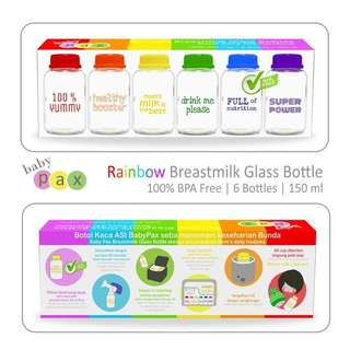 Baby Pax Rainbow Storage Bottles
