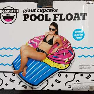 Giant cupcake floater