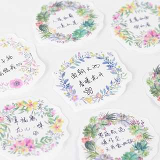 Cute flower sticky notes