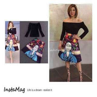 Top and 3D skirt