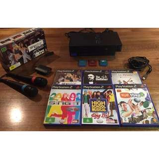 PlayStation 2 Bundle With SingStar & EyeToy
