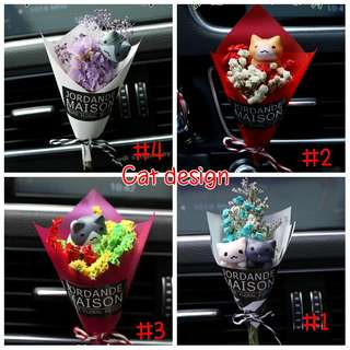 PO: Mini Dried Flower Bouquet for Car