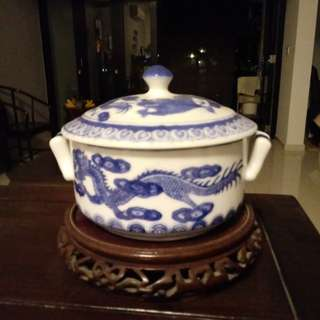 Vintage Porcelain pot with Lid