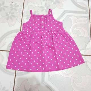 Pink polka dot dress for 6 months old