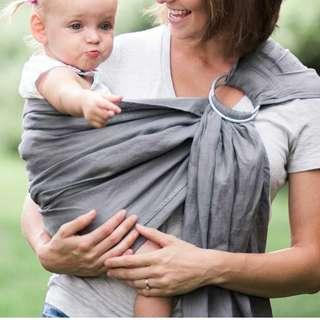 Bibetts Pure Linen Baby Sling - Light Gray