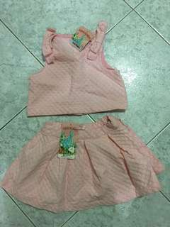 Ginger Snaps crop top and skirt