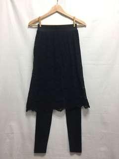黑色 喱士 裙褲