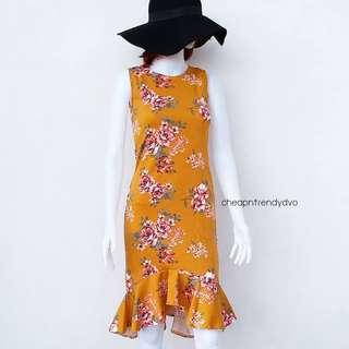 Floral Ruffled Hem Dress