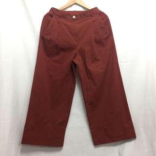 啡紅色 直腳褲