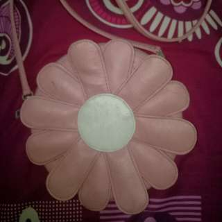 Sling bag daisy flowers pink