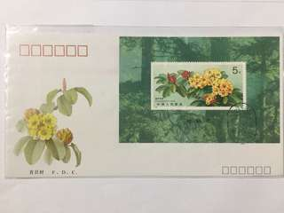 Prc china T162M flowers fdc