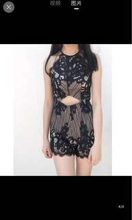 Thejuicemarket lace for days playsuit