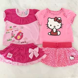 Preloved baby girl set bundle (0 to 6 months)