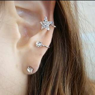 Star Ear Clip Stud