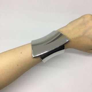 Authentic Mango Silver Metal Cuff Bracelet